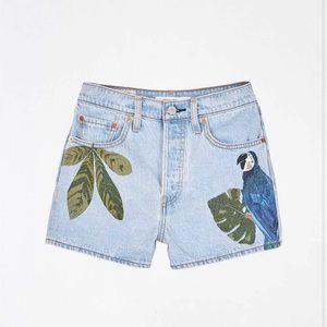 NWT Levis x Farm Rio Ribcage Button Fly Shorts 29